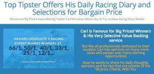 Carl Nicholson's Racing Diary